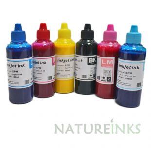 Warna 6 Pigment ink Bottles Set  - 600 ml